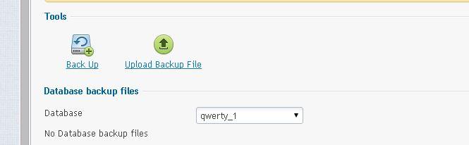 chon database mun backup Plesk 12