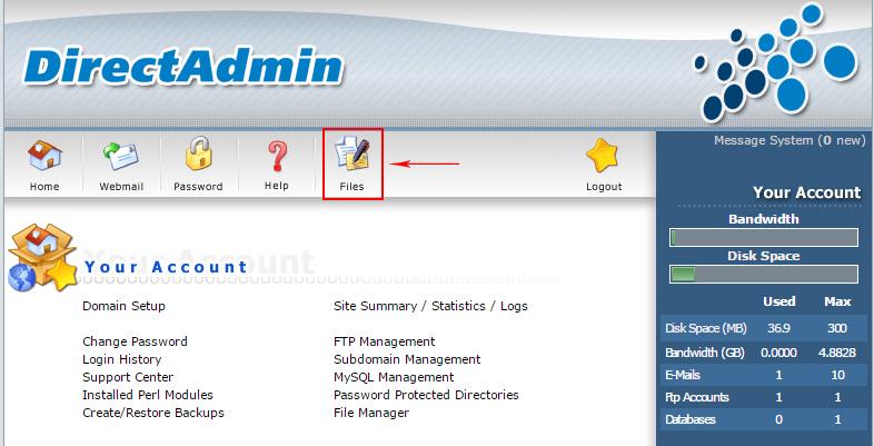 huong dan upload sourcecode len host directadmin 3