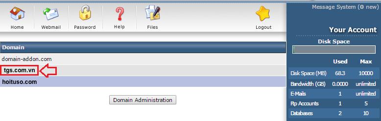 huong dan tao email theo ten mien tren direct admin