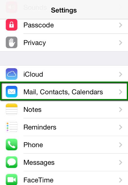 thiết lập tài khoản Email trên iPhone 1