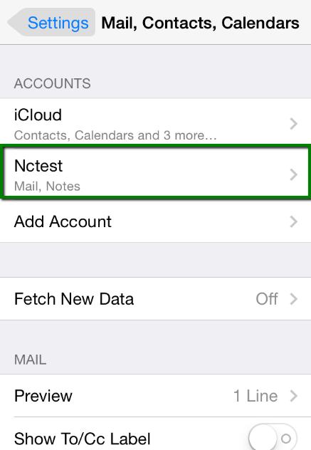thiết lập tài khoản Email trên iPhone 10