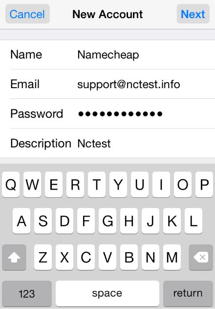 thiết lập tài khoản Email trên iPhone 6